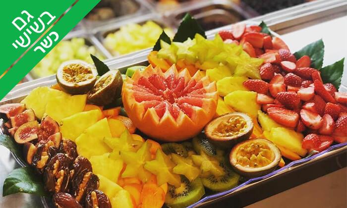2 מגש פירות כשר של Enerjuicer ב-Take Away, בר משקאות בריאות ומיצים טבעיים בכיכר רבין