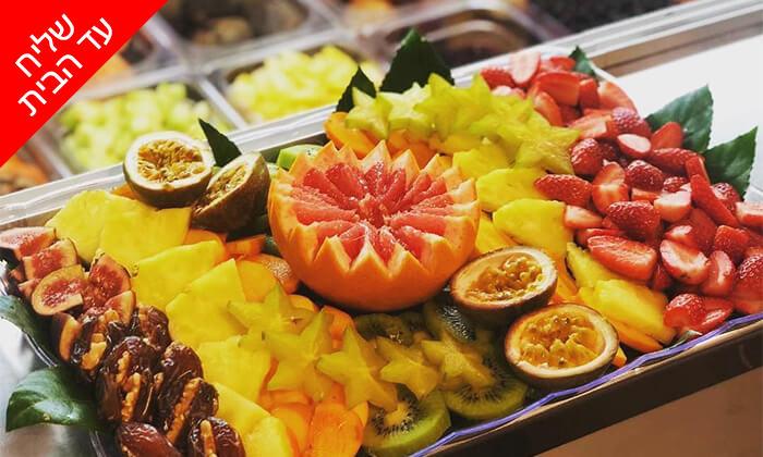 2 מגש פירות כשר מ-Enerjuicer, בר מיצים טבעיים בבן יהודה - משלוח חינם למגוון יישובים