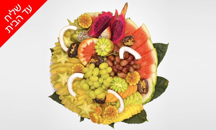 5 מגש פירות כשר מ-Enerjuicer, בר מיצים טבעיים בבן יהודה - משלוח חינם למגוון יישובים
