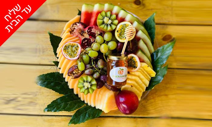6 מגש פירות כשר מ-Enerjuicer, בר מיצים טבעיים בבן יהודה - משלוח חינם למגוון יישובים