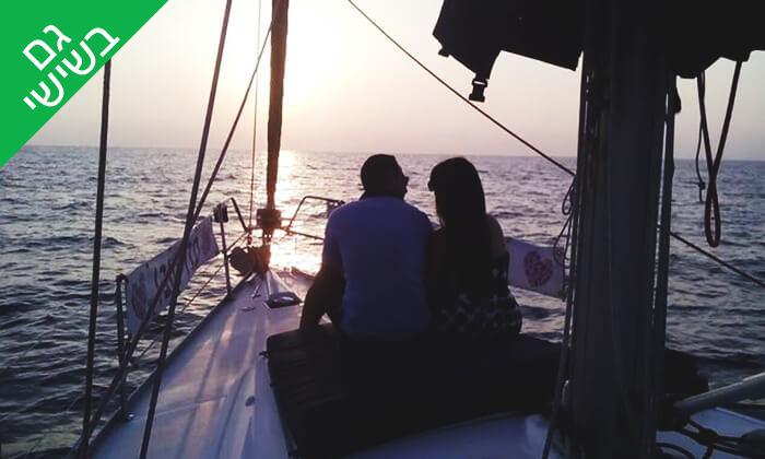 6 שיט זוגי ביאכטה וכרטיס לסרט - לי-יםהשכרת יאכטות, מרינה הרצליה
