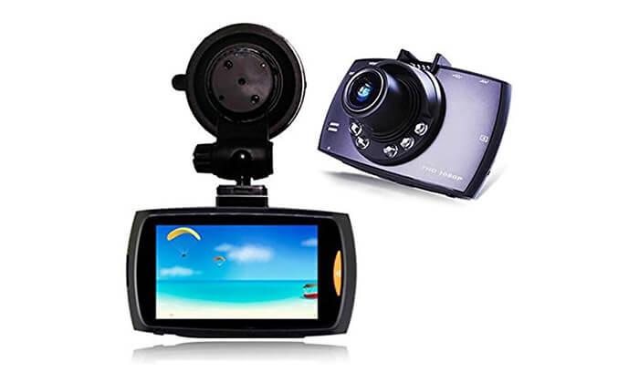 2 מצלמת דרך לרכב לצילום סרטי וידאו עם קול