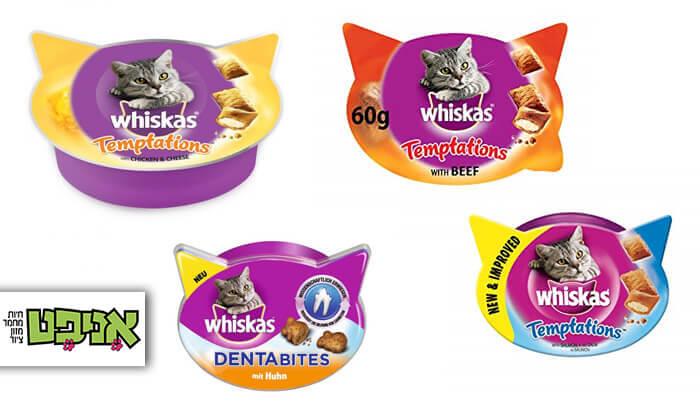 2 מארז 12 חבילות חטיפי Whiskas לחתול