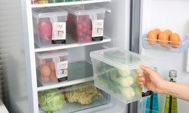 סט 4 קופסאות למקרר