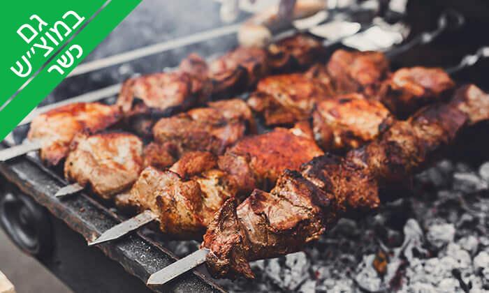 4 ארוחת בשרים זוגית במסעדת גריל הלוהט הכשרה, תל אביב