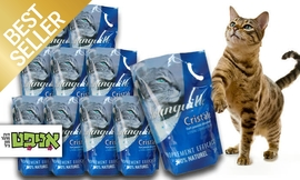 10 שקי חול קריסטל לחתול