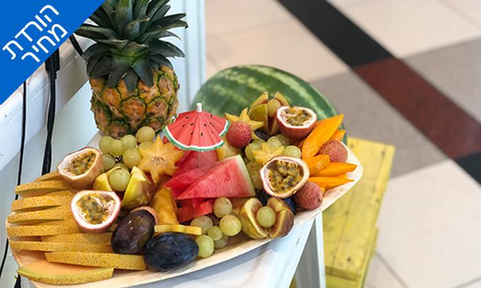 """4 מגש פירות כשר - בר בריאות טרופיקו, קניון איילון ר""""ג ושנקין גבעתיים"""