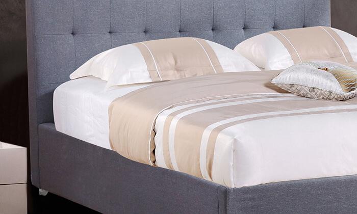 4 מיטה זוגית מרופדת HOME DECOR דגם נועם