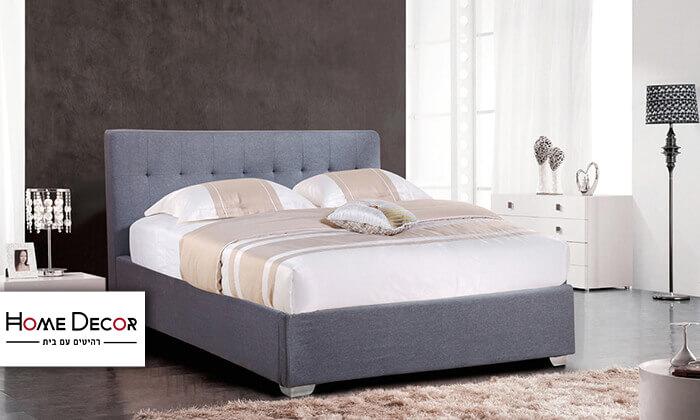 2 מיטה זוגית מרופדת HOME DECOR דגם נועם
