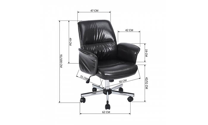 5 כיסא משרדי מרופד HOMAX