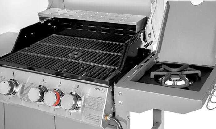 6 גריל גז 3 מבערים Australia Chef - כולל גריל מורכב
