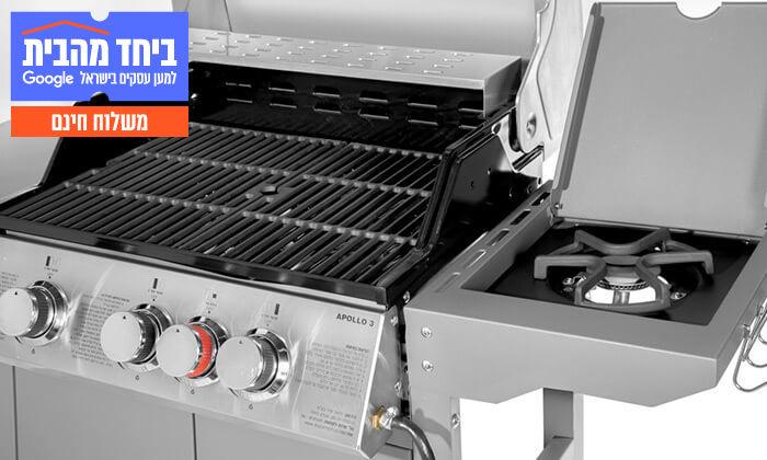 6 גריל גז 3 מבערים Australia Chef - כולל גריל מורכב ומשלוח חינם
