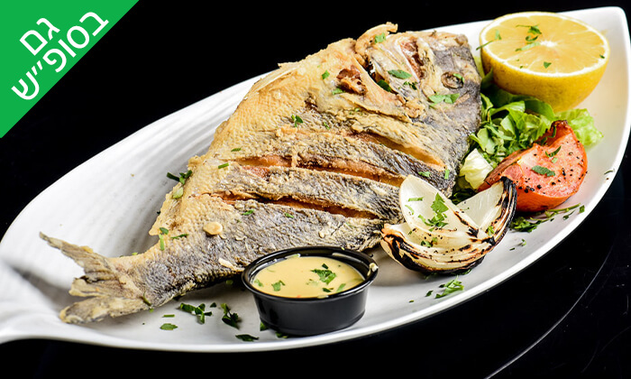 2 ארוחת דגים זוגית בסטלה ביץ' - דג על הים, בת ים
