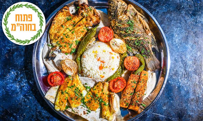 3 ארוחת דגים זוגית בסטלה ביץ' - דג על הים, בת ים