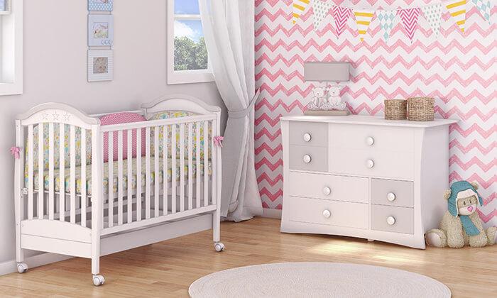 7 משכל: סט ריהוט לחדר תינוקות דגם 'מייפל'