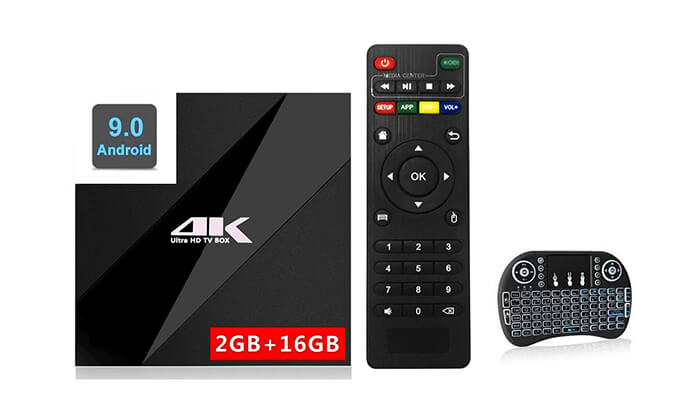 6 סטרימר ANDROID X9 TV BOX 4K ULTRA