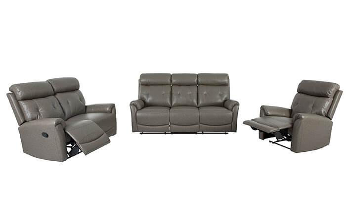 8 שמרת הזורע: סט סלון עם ספה תלת-מושבית, ספה דו מושבית וכורסה