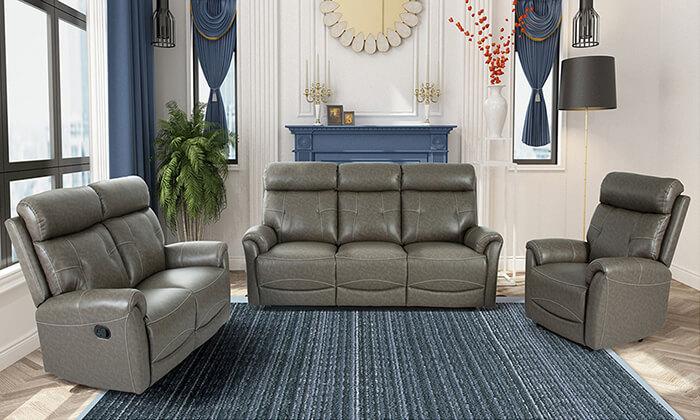 9 שמרת הזורע: סט סלון עם ספה תלת-מושבית, ספה דו מושבית וכורסה