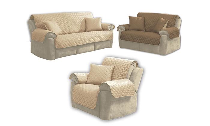 6 כיסוי דו-צדדי לספה