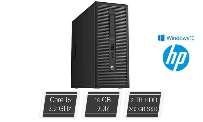 2 מחשב נייח HP עם כרטיס מסך GeForce GTX 1050