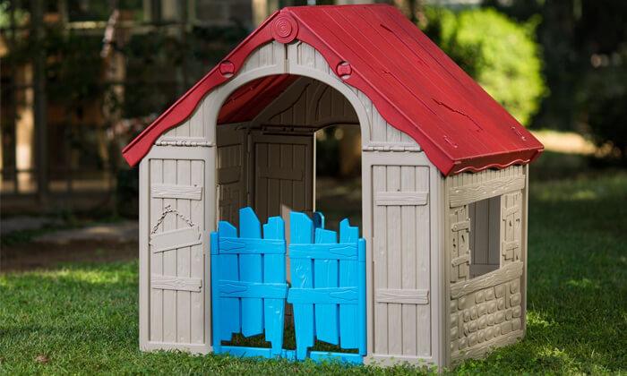 4 כתר: בית משחק מתקפל לילדים