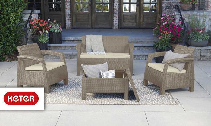 כתר: מערכת ישיבה בעיצוב דמוי ראטן