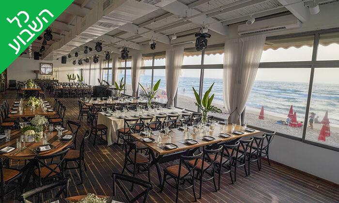6 ארוחת שיפודים זוגית במסעדת קאזה ביץ', טיילת בת ים