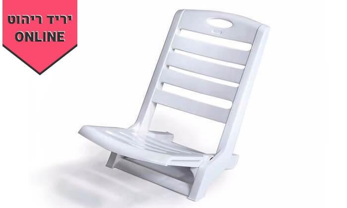 3 כתר: 6 כיסאות פלסטיק לים דגם סאנטו
