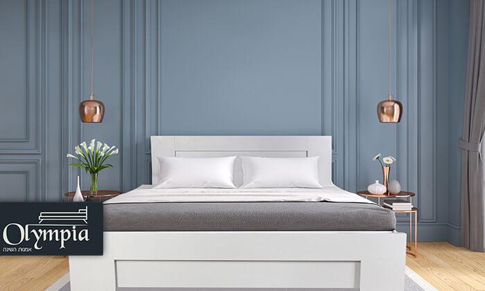 אולימפיה: מיטה עם בסיס עץ מלא, כולל מזרן מתנה - הובלה והרכבה חינם!