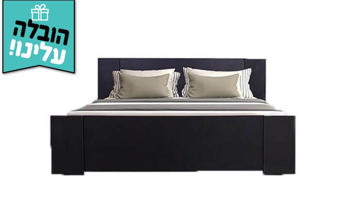 5 אולימפיה: מיטה עם בסיס עץ מלא - הובלה והרכבה חינם