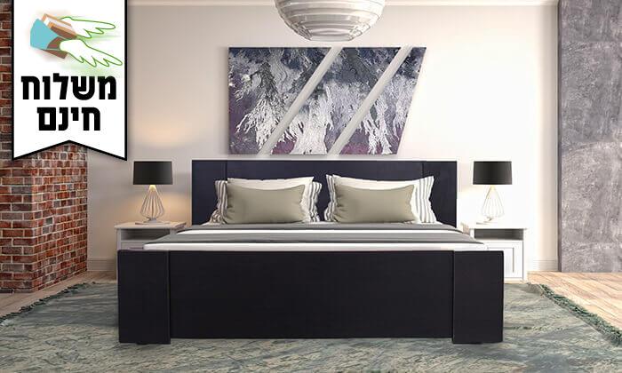 4 אולימפיה: מיטה עם בסיס עץ מלא - הובלה והרכבה חינם