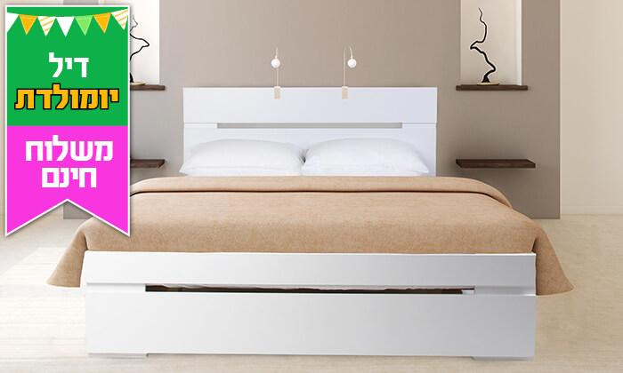 4 אולימפיה: מיטה עם מזרן - משלוח חינם
