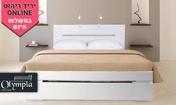 מיטה ברוחב וחצי עם מזרן