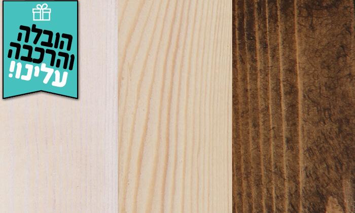 3 אולימפיה: מיטה זוגית מעץ אורן מלא - הובלה והרכבה חינם