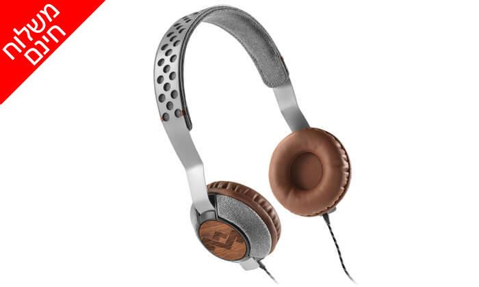 4 אוזניות חוטיות מארלי MARLEY - משלוח חינם!
