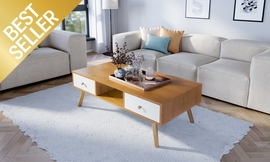 שולחן סלון עם תאי אחסון