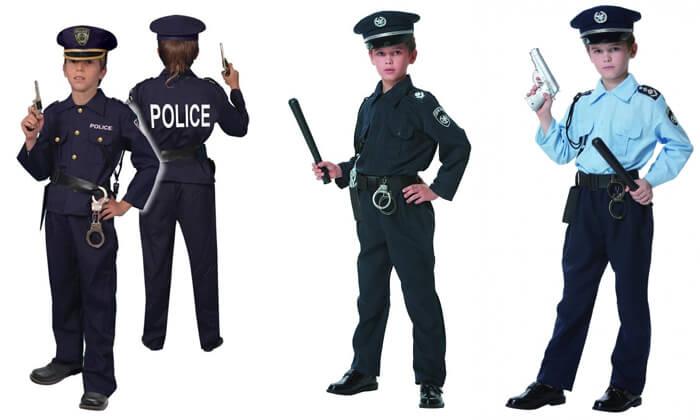 2 תחפושות שוטרים לילדים לפורים