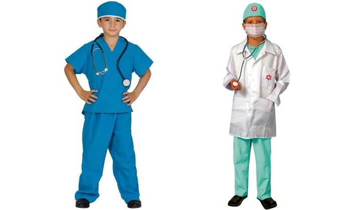 2 תחפושות רופאים לילדים לפורים