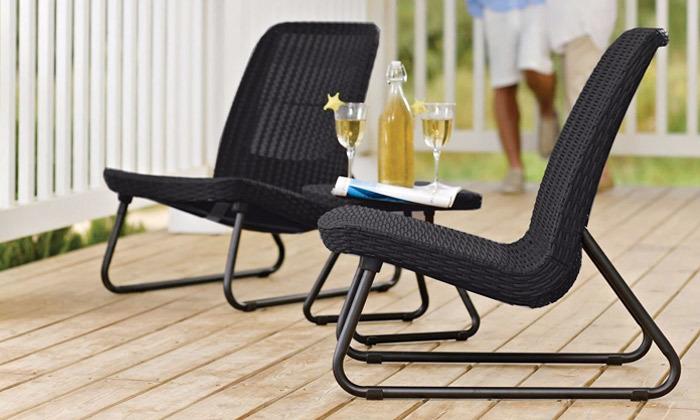 7 כתר: זוג כסאות עם שולחן, דגם ריו