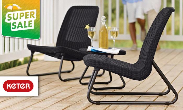 2 כתר: זוג כסאות עם שולחן, דגם ריו