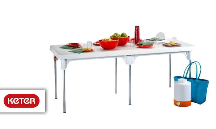 2 כתר: שולחן מתקפל