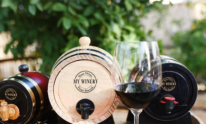 8 חבית יין בוטיק אישיתמעץ אלון MY WINERY