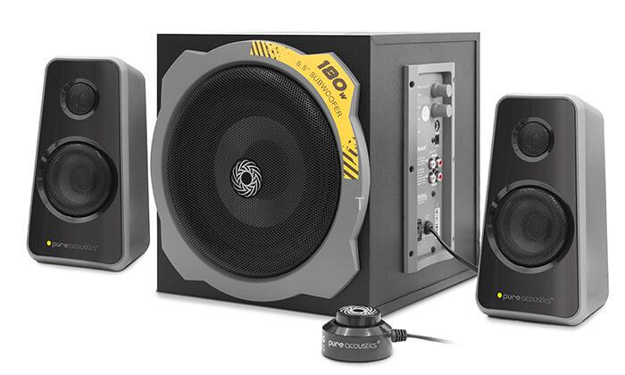 3 מערכת רמקולים לגיימינג Pure Acoustics עם חיבור Bluetooth - משלוח חינם!