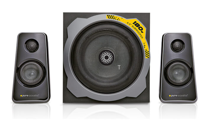 2 מערכת רמקולים לגיימינג Pure Acoustics עם חיבור Bluetooth - משלוח חינם!