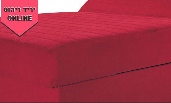 6 מיטה אורתופדית ברוחב וחצי דגם מאיה - צבעים לבחירה