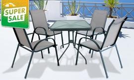 סט שולחן ו-4 כיסאות לגינה