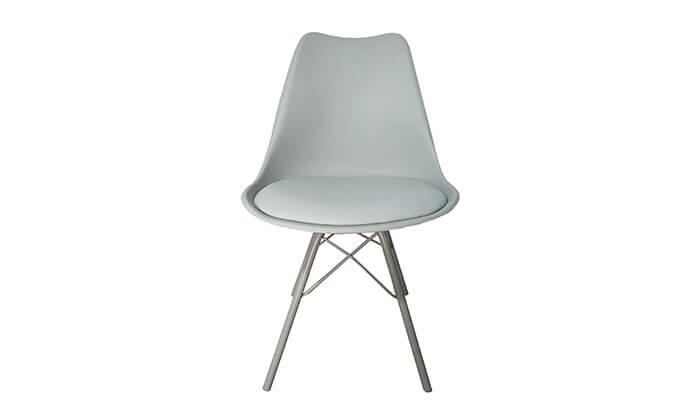 5 כיסא אוכל עם מושב מרופד