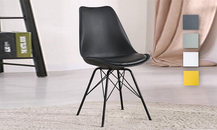 2 כיסא אוכל עם מושב מרופד