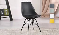 כיסא אוכל עם מושב מרופד