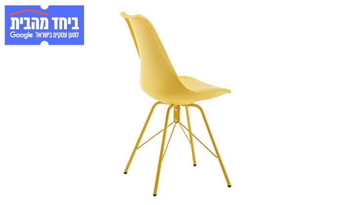 3 כיסא אוכל עם מושב מרופד